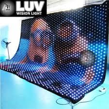 Curtain Led Display Luv Lvc406 P9 Pc 4m 6m P9cm Flexible Led Video Curtain Led