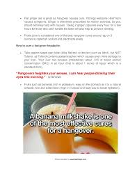 best cure for hangovers how to cure a hangover fast