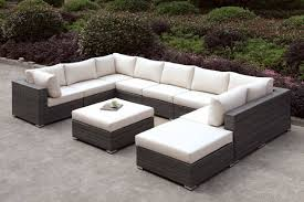 Patio Furniture Sectional Seating - furniture of america somani u sectional sofa ottoman cm