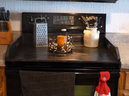 Cutting Board With Trays by Stove Top Cutting Board Home Appliances Decoration