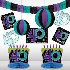 amazon com the party continuous 40th birthday party assorted room
