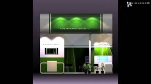 4 in 1 exhibit booth design for trade show 3d model from