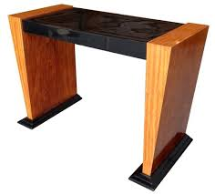 burl wood console table innovative art deco console table with art deco console table french