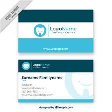Dental Business Card Designs Dental Business Card Vector Free Download