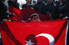 Turkey National Flag Fighting Flares Up On Hill Turkey Seized In Syria Offensive