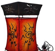 Schlafzimmer Steh Lampen Orientalische Stehlampe Marrakesch Orange 100cm Lederlampe
