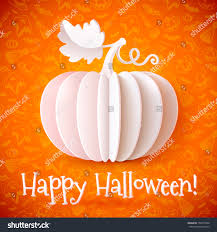 free halloween orange background pumpkin white vector paper halloween pumpkin on stock vector 158714306