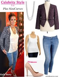 celebrity style for plus size halle berry stylish curves