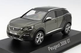 peugeot 3008 2017 black peugeot 3008 gt 2016 grey metallic die cast model norev 473882