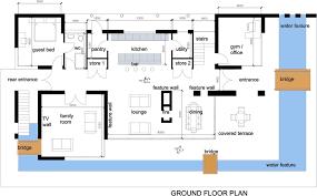 Modern Floor Plans For Homes Modern One Story Floor Plans Amazing Modern House Plan Home