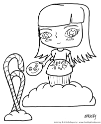 anime coloring pages candy anime coloring kids