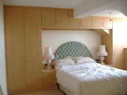 Bedroom Furniture Fitted Pretty Bedroom With Chic Table Lamps And Tufted Headboard Also