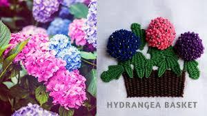 Hydrangea Flowers Hand Embroidery Flowers Stitch By Diy Stitching 15 Hydrangea