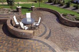 paver patio edging brick stone patio designs with magnificent lakefront stone patio