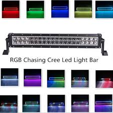 Off Road Led Light Bar For Trucks by 13 5 Inch 72 W Cree Led Light Bar Rgb Chasing Halo Ring 7 Solid