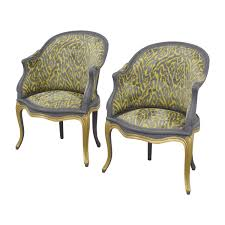 French Yellow Chair 34 Off Country French Grey And Yellow Accent Chairs Chairs