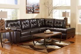 bonded leather sectional sofa ashley alliston 2010117 2010166 bonded leather sectional sofa