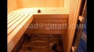how to build a sauna youtube