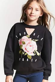 girls lace up sweatshirt kids forever21