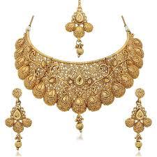 gold choker necklace sets images Sukkhi traditional gold plated kundan choker necklace set for jpg