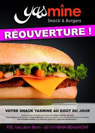 cuisine plus henin beaumont yasmine snack burgers à henin beaumont carte menu et photos