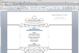 wedding menu templates free wedding menu template the budget savvy