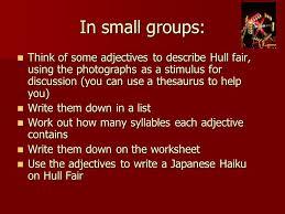 hull fair haiku creative writing 10 10 ppt download