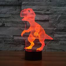 animal dinosaur 3d night light touch table desk lamps haiyu 7