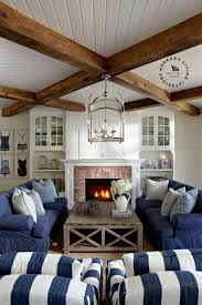 Casual Living Room Furniture House Tour Coastal Style Cottage Denim Sofa Casual Living