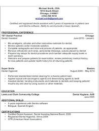 dental assistant resume sample resume samples and resume help