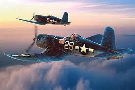 f 4u corsair painting by lance russwurm classic aviation