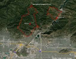 Google Maps Los Angeles by California San Gabriel Complex Of Fires Near Los Angeles