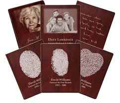 memorial guest book customizable wooden guest book with pages memorial gallery