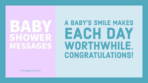 baby shower wishes and congratulations messages