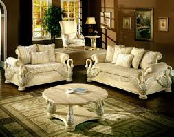 luxury living room furniture design with traditional sofa sets
