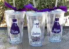 bridesmaid cups bridesmaid cups 9 tumblers custom letter colors