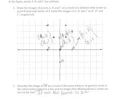 dilation of a line factor of two students are asked to graph the