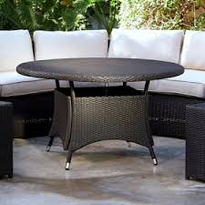 outdoor wicker dining table resin wicker outdoor dining tables hayneedle
