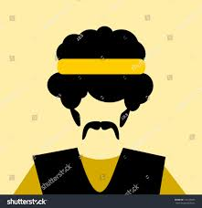 yellow headband afro yellow headband stock vector 142146565