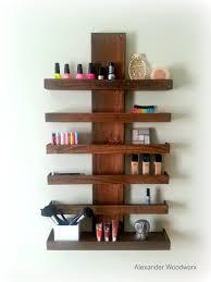 makeup organizer wall mounted makeup shelf nail polish