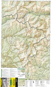 14ers Map Idaho Springs Loveland Pass National Geographic Trails