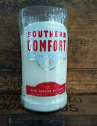 Southern Comfort Bottle Repurposed Southern Comfort Bottle Soy Candle Liquor Wicks