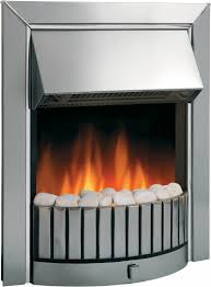 delius chrome optiflame electric inset fire dimplex