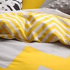 logan and mason marley yellow chevron king size doona duvet quilt