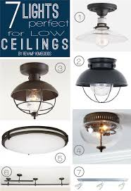 kitchen lighting ideas for low ceilings 7 lighting fixtures for low shallow ceilings decor