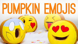 diy emoji pumpkins for halloween decor youtube