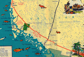 Map State Of Florida by Tamiami Trail The Florida Memory Blog
