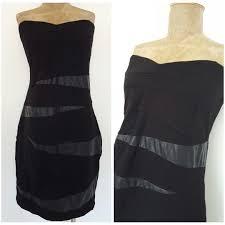 torrid black dress size 20 plus strapless bandage mini cocktail