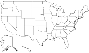 empty map of united states united states outline map