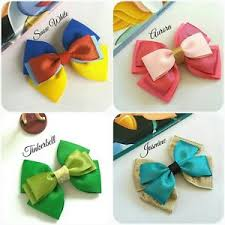 handmade hair bows princess hair bows snow white tinkerbell